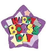 "18"" Happy Boss's Day Purple Star"