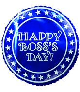 "4"" Airfill Happy Boss's Day Star Border Balloon"