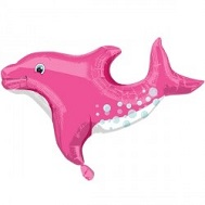 "28"" Playful Dolphin Pink Balloon"
