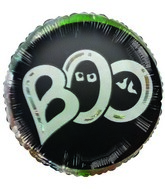 BOO! Halloween Themed Airfill-Only Mylar Balloon