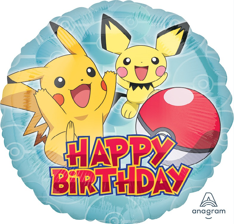 "18"" Pokemon HBD Balloon"