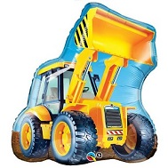 "32"" Construction Loader Jumbo Mylar Balloon"