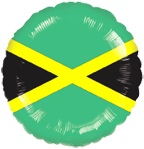 "18"" Jamaica Flag Balloon"