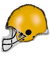 "26"" Yellow Football Balloon Helmet"