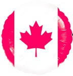 "18"" Canadian Flag Balloon"