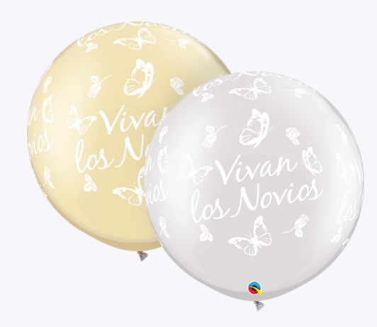"30"" Pearl Ivory and White Vivan Los Novios (2 Count)"