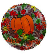 "9"" Fall Leaves and Pumpkin"