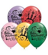 "11"" Feliz Cumpleanos! Party Special Assortment (50 Count)"
