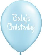 "11"" Pearl Blue Boy Baby&#39s Christening (50 per bag)"