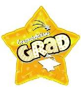 "18"" Congratulations Grad Gold Star"