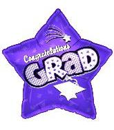 "18"" Congratulations Grad Purple Star"