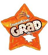 "18"" Congratulations Grad Orange Star"