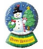 "33"" Happy Holiday Snowman Globe"
