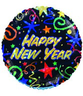 "4"" Airfill Happy New Year Sparkling Stars & Streamers"