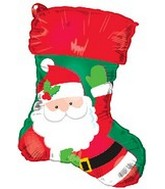 "18"" Santa Stocking Shape with name stickers."