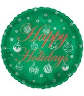 "18"" Happy Holidays Green"