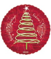 "18"" Seasons Greetings Swirls Mylar Balloon"