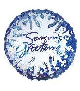 "9"" Season&#39s Greetings Icy Snowflake M385"