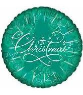 "9"" Airfill Green Starry Merry Christmas M382"