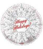 "9"" Airfill Happy Holidays Snowflake"