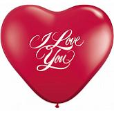 "6"" I Love You Script Ruby Red (100 ct.)"