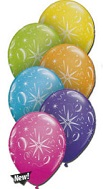 "11"" Sparkle Balloons Tropical  Assortment  (50 Count)"