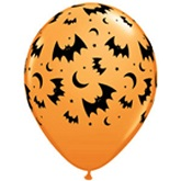 "11"" Flying Bats and Moons Balloons (50 Ct)"