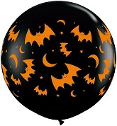 "36"" Flying Bats and Moons Balloons (2 Ct)"