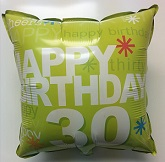 "18"" Happy 30th Birthday Foil Balloon"