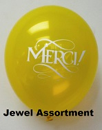 "11"" Jewel Assortment ""Merci!""  Latex 100CT"