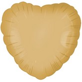 "18"" Gold Heart Balloon"