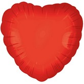 "2"" Airfill Red Heart Balloons"