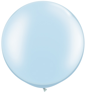 "30""  Qualatex Latex Balloons  Pearl LIGHT BLUE     02CT"