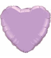 "18"" Frosted Lavender Heart"