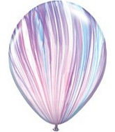 "11"" Fashion Super Agate Latex Balloons (25 Count)"