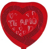 "9"" Airfill Te Amo Red Balloon"