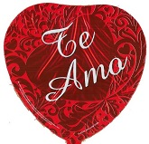 "9"" Airfill Te Amo Red Heart Formal Balloon"