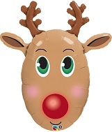 "36"" Red-Nosed Reindeer Balloon"