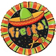 "18"" Fiesta Stripe Balloon"