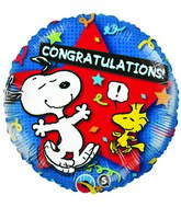 "18"" Peanuts Congratulations Star  Mylar Balloon"