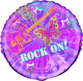 18&#39&#39 Rock On Mylar Balloon