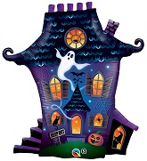 "31"" Ghostly Haunted House"