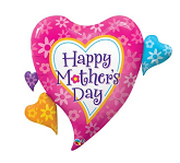 """44"""" Mother's Day Daisies & Hearts Shape"""
