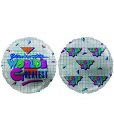 "18"" World&#39s Greates Geometric Style Mylar Balloon"