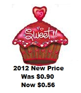 "20"" Sweet Cupcake with Heart"