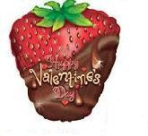 "21"" Happy Valentine&#39s Day Strawberry"