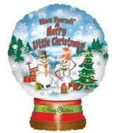 "22"" Merry Little Christmas Globe (B1)"