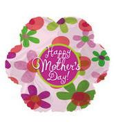 "18"" Happy Mother&#39s Day Flowers Clear"