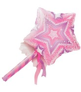 "36"" Magic Wand Jumbo Packaged Mylar Balloon"