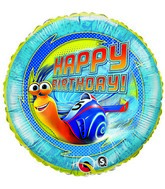 "18"" Turbo Happy Birthday Licensed Mylar Balloon"